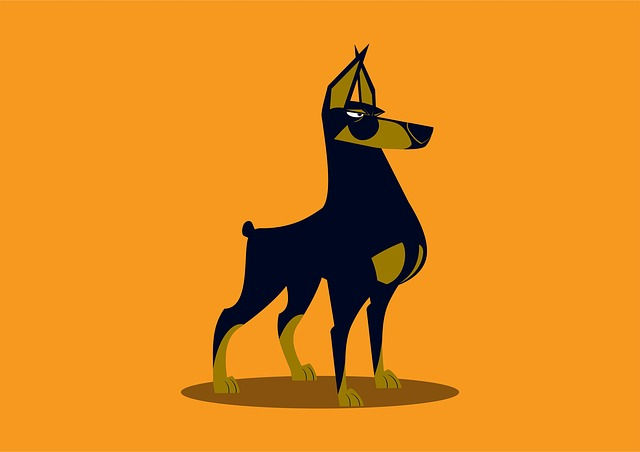 Illustration, Silhouette, Art, Mammals, Dog, Mammal