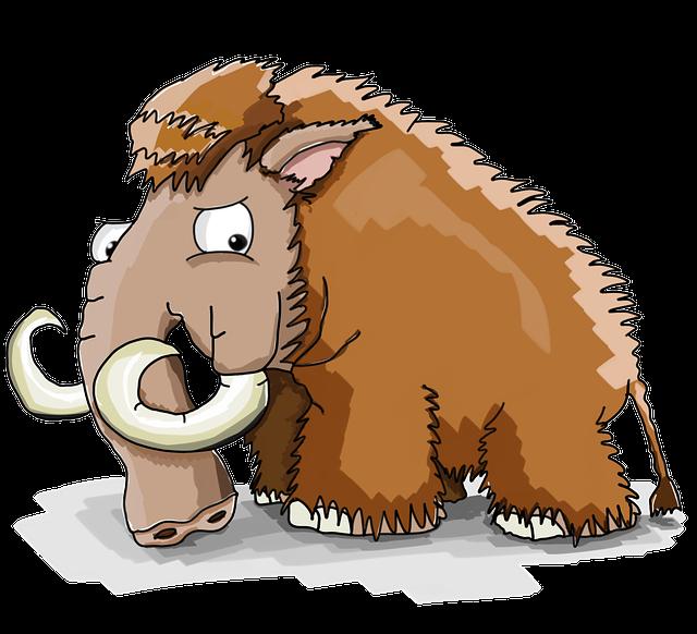 Mammoth, Cool, Cartoon, Strongman, Big Guy, Cupboard