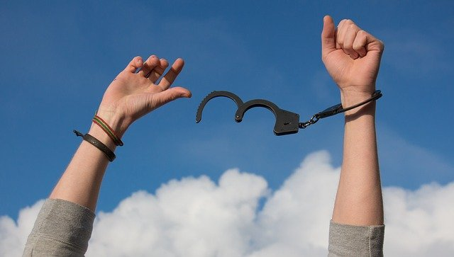 Freedom, Sky, Hands, Handcuffs, Clouds, Man, Thief, Hiv