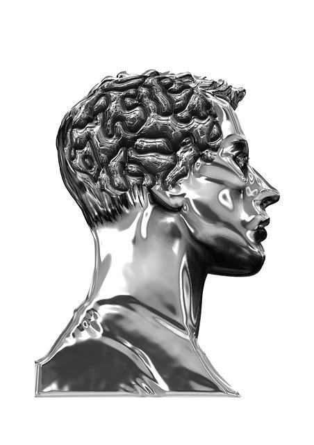 Man, Silhouette, Display Dummy, Brain, Coils, Portrait