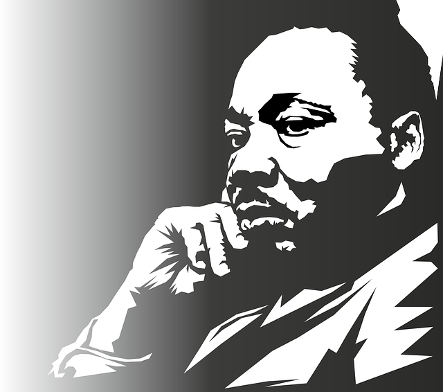 Martin Luther King, Portrait, Face, Man, Person