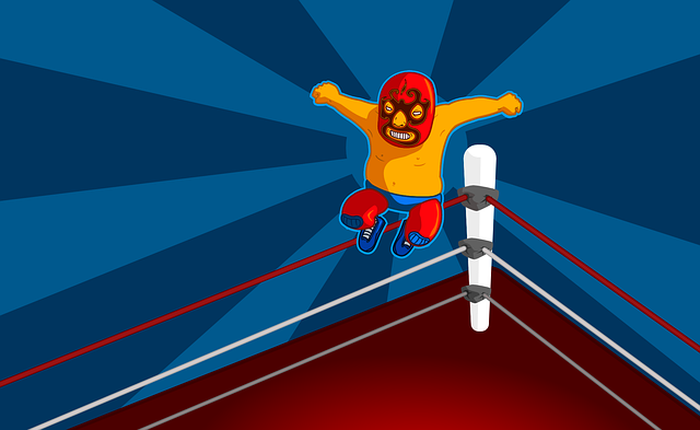 Wrestler, Wrestling, Comic, Man, Fighter, Jump