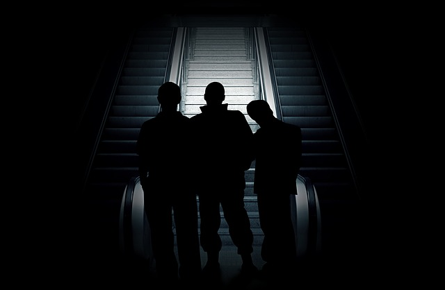 Group, Violent, Human, Man, Silhouette, Shadow, Light