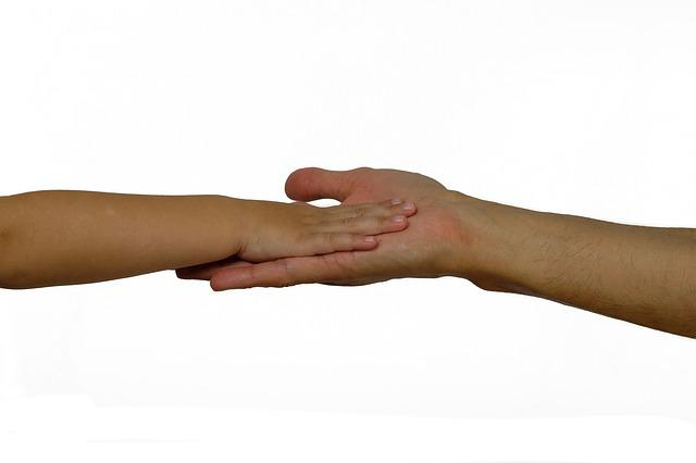 Hands, Child's Hand, Man Hand, Contact, Affection