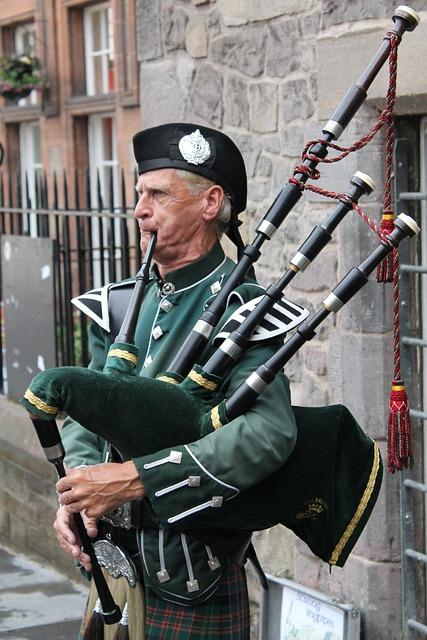 Bagpipes, Highlander, Man, Human, Person