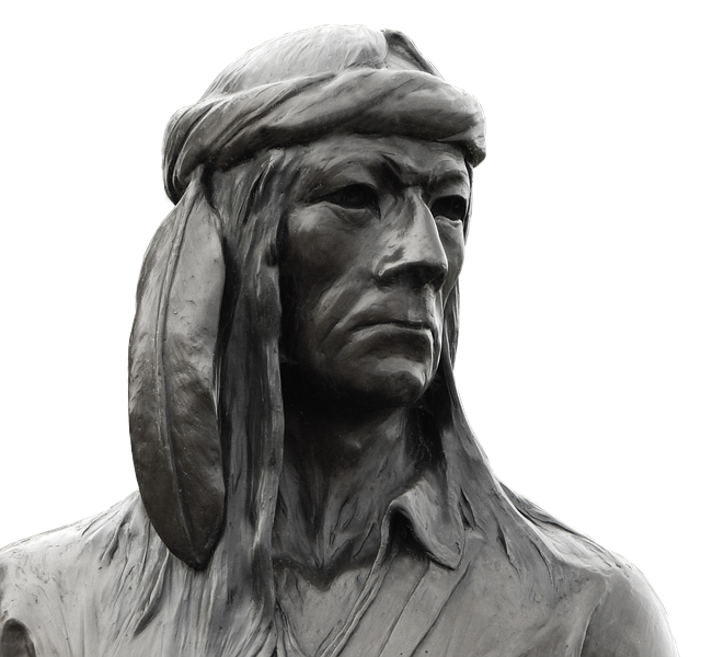 Portrait, A, Human, Man, Sculpture, Indians, Art
