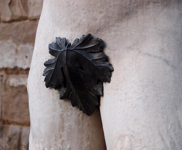 Fig-leaf, Shame, Statue, Man, Penis, Forging, Monument