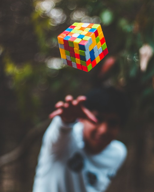People, Man, Guy, Blur, Outdoor, Rubik's Cube, Play