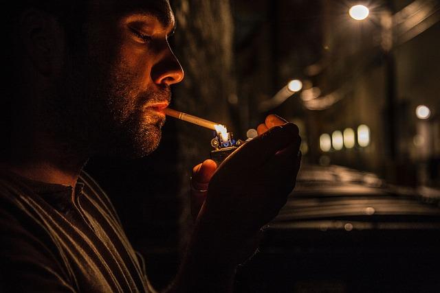 People, Man, Guy, Cigarette, Smoking, Lighter, Lights