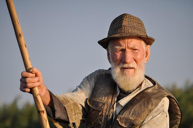 Man, Old, Fisherman, Portrait, Traditional, Person