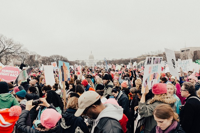 People, Man, Woman, Protest, Rally, Equality, Trump