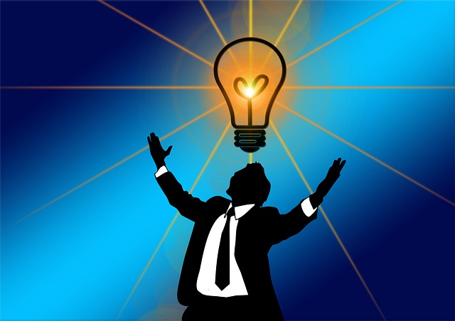 Man, Silhouette, Pear, Light, Idea, Igniting, Invention