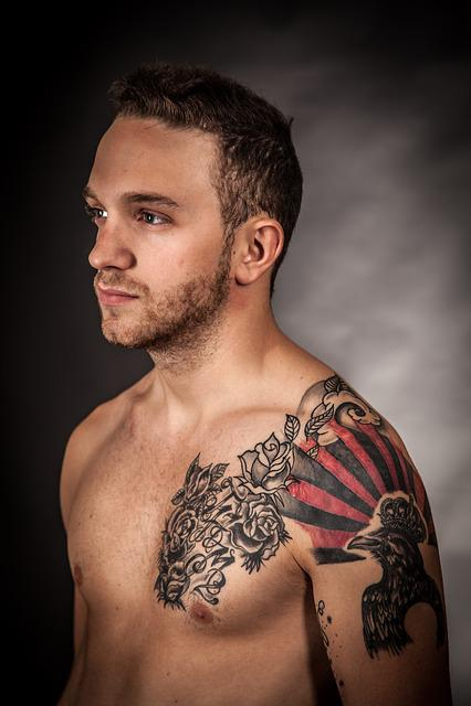 Model, Tattoo, Art, Artistically, Color, Artwork, Man
