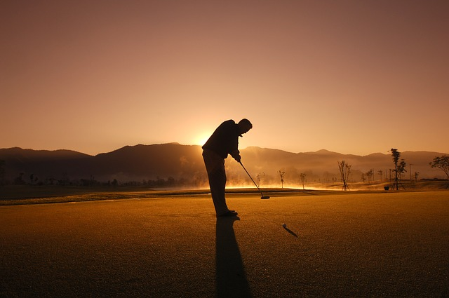 Notice, Golf, Thailand, Game, Play, Man, Sunset, Kick