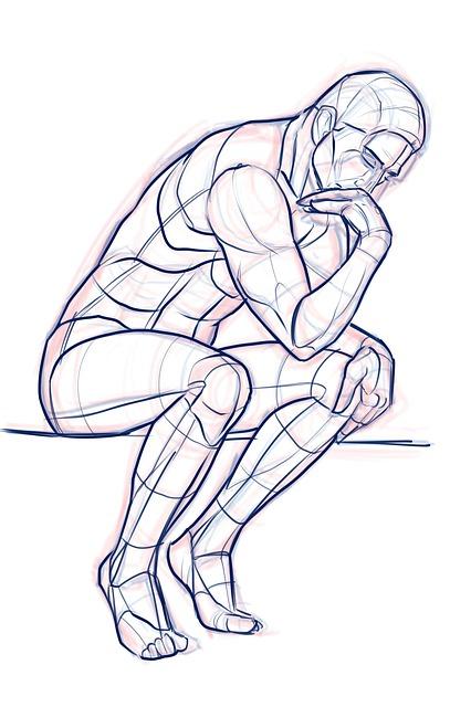 Thinker, Male, Sitting, Think, Statue, Man, Ponder