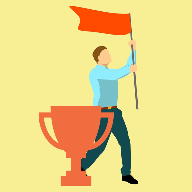 Winning, Flag, Proud, Prize, Man, Up, Yellow