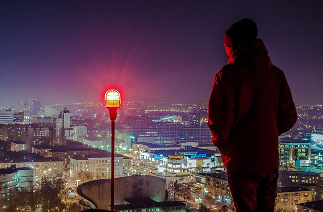 Man, View From The Roof, View From The Back, Voronezh