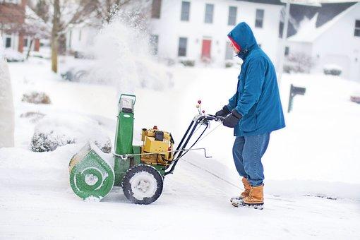 Snow Blower, Man, Work, Winter, Snow, Cold