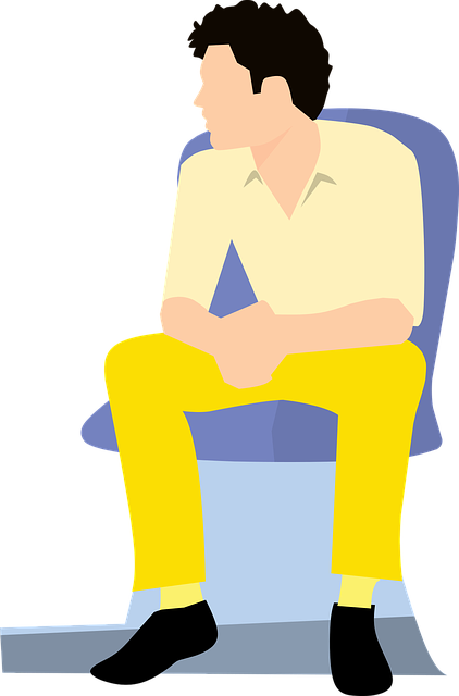Man, Young, Clothes, Casual, Looking, Sitting, Chair