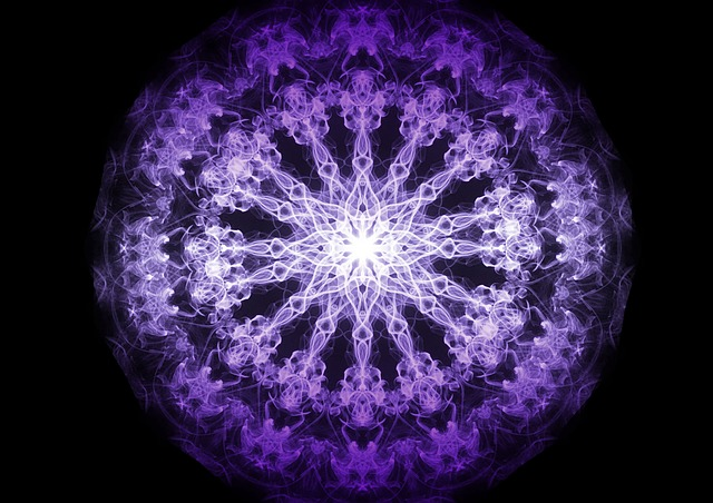 Fractal, Mandala, Background, Purple