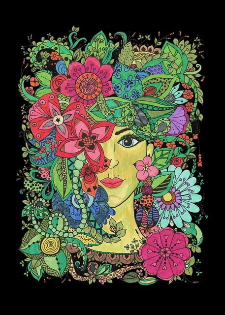 Mandala, Figure, Nature, Girl, Pictured, Image