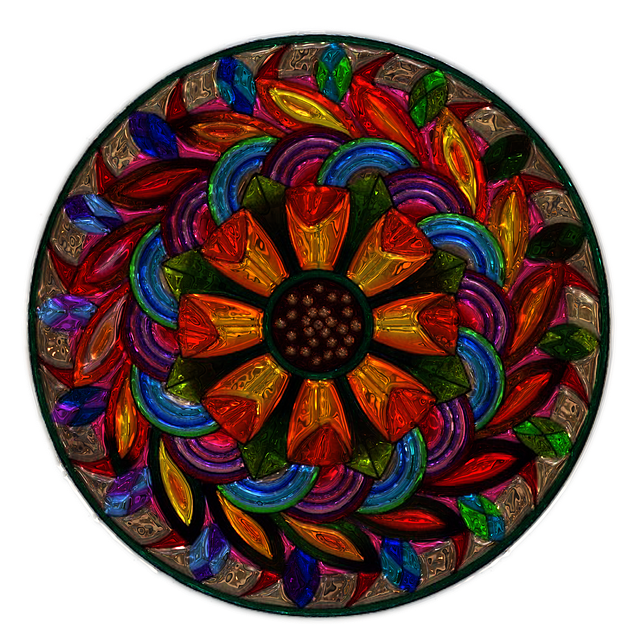 Mandala, Metallizer, Art, Glass, Factory