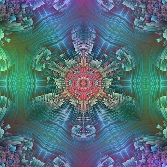 Mandala, Neon, Symmetric, Symmetry, Geometry, Geometric