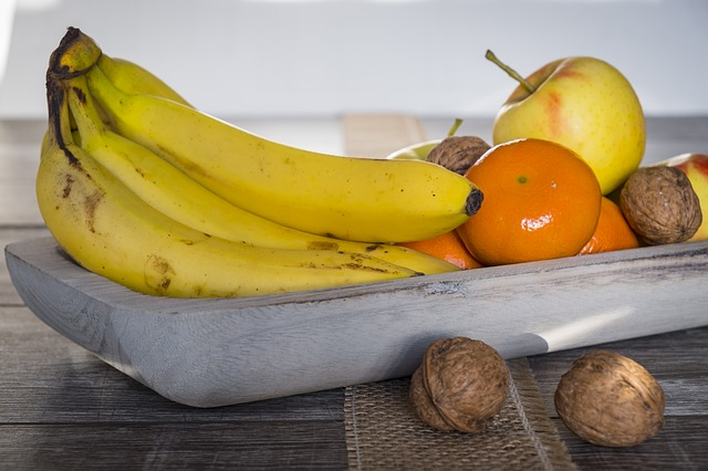 Fruit, Fruit Bowl, Banana, Mandarin, Orange, Apple