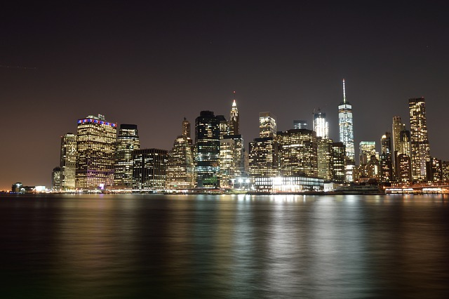 United States, New York, Manhattan, Night