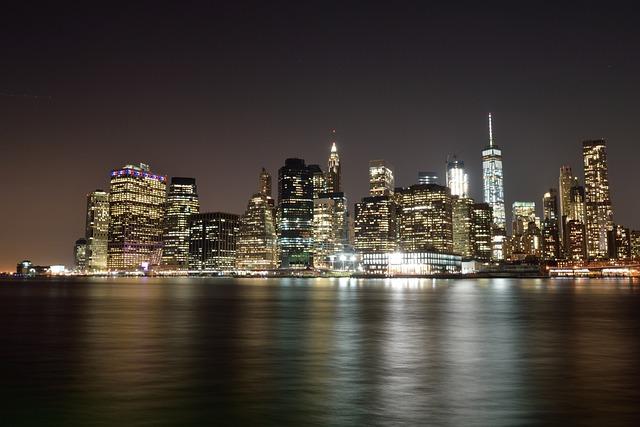 United States, New York, Manhattan, Night