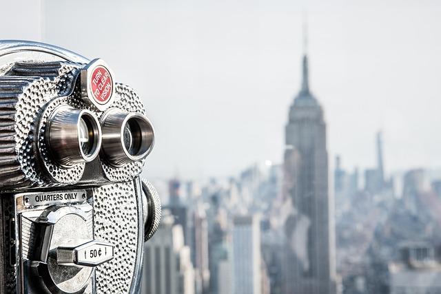 Usa, New York, Manhattan, View, The Rock