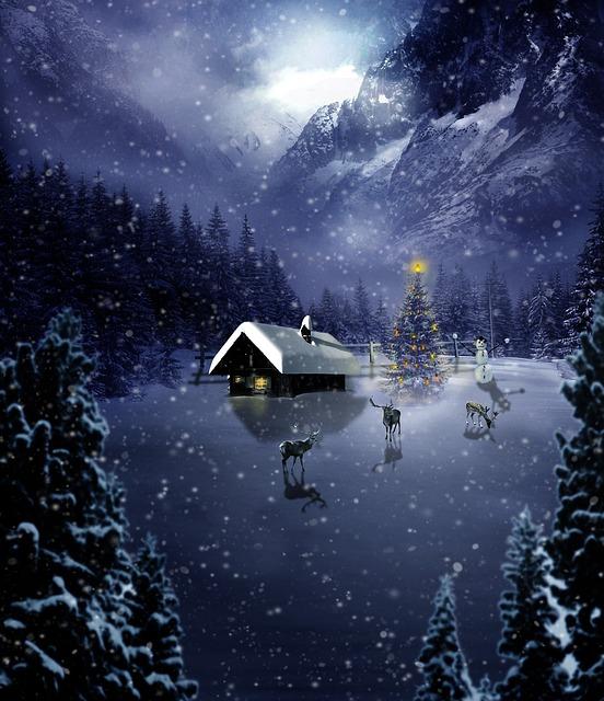 Christmas, Photoshop, Manipulation, Winter, Evening