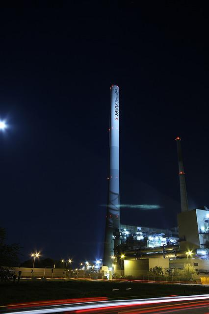 Industry, Night, Long Exposure, Mannheim