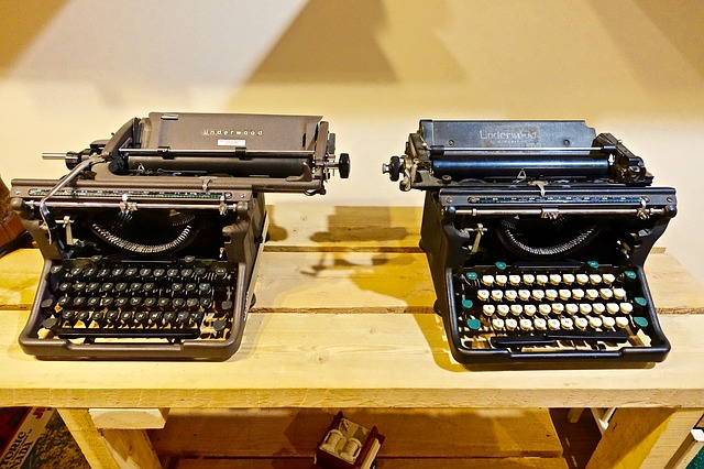 Typewriters, Manual, Antique, Mechanical