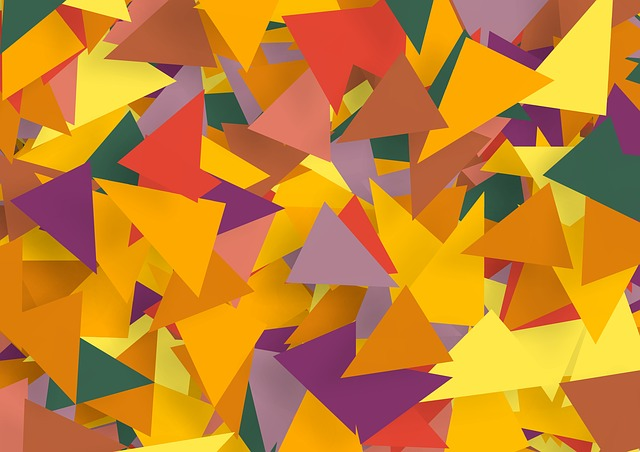Share, Color, Many, Colorful, Triangles, Green