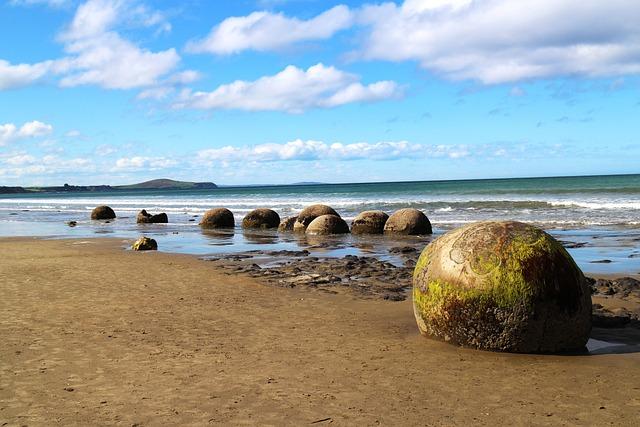 Maori Stone, Hai Bian, Landscape, New Zealand, Coast