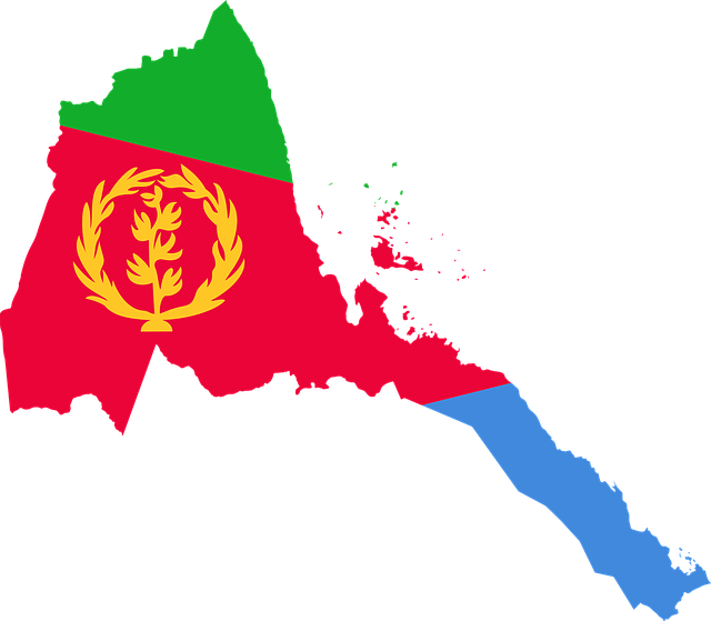 Eritrea, Flag, Map, Geography, Outline, Africa, Country