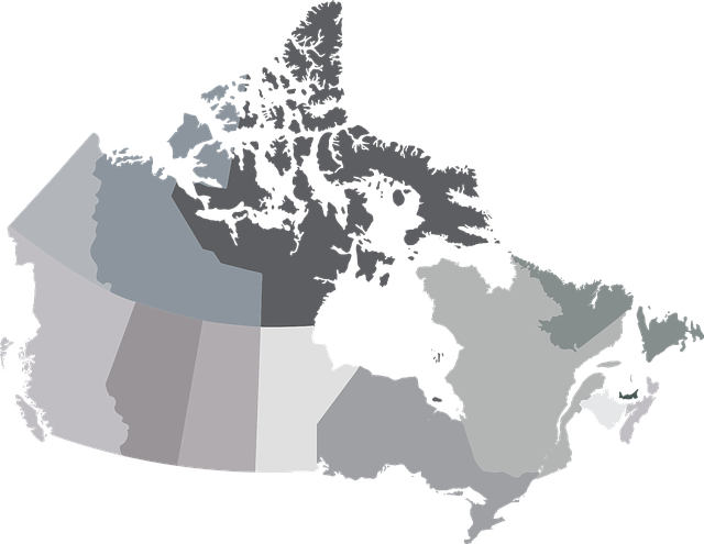 Map, Canada, Provinces, Territories, Alberta