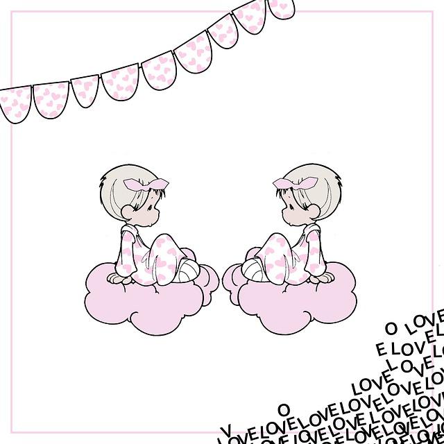 Birth Announcement, Birth, Map, Twin, Girls