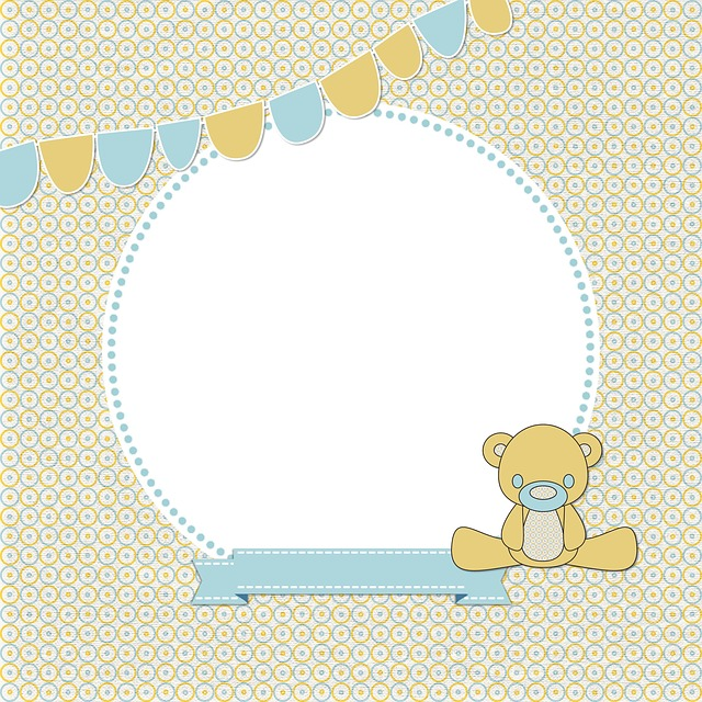 Map, Birth, Boy, Girl, Yellow, Blue, Footman, Garlands
