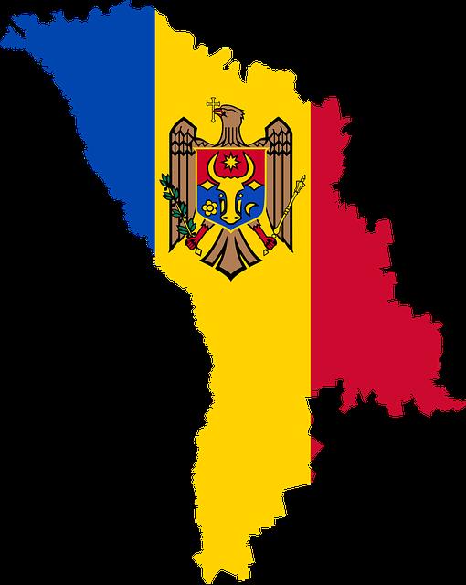 Moldova, Country, Europe, Flag, Borders, Map, Nation