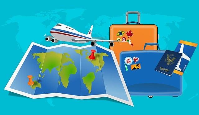 Map, Flight, Vacation, Luggage, Visa, Passport