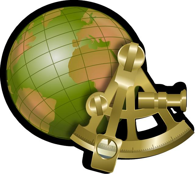 Globe, Map, Nautical, Sextant, World, Navigation