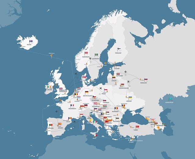 Map Of Europe, Map, Europe, Eu