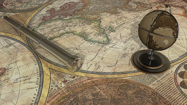 Map Of The World, Map, Telescope, Continents, Globe