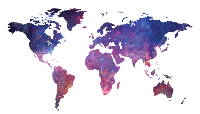 Galaxy, World Map, Map Of The World, Space, World, Map