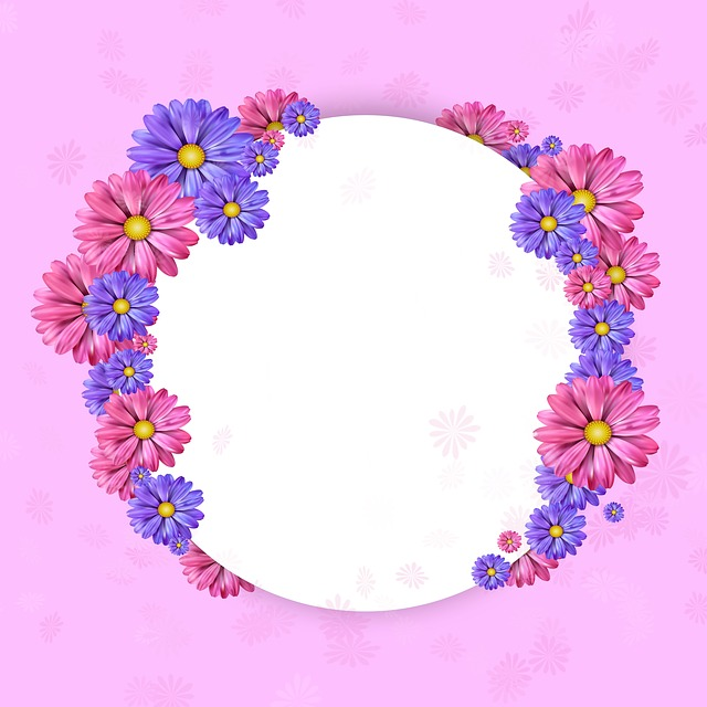 Picture Frame, Background, Love, Romance, Map, Flower