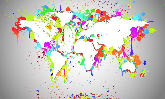 World, Map Of The World, Map, White, Splash