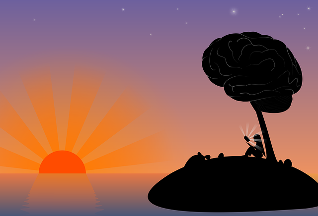 Sunset, Island, Mar, Dusk, Brain, Imagination