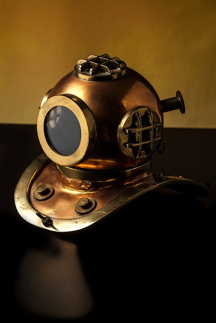 Diving Bell, Diving, Mar, Old, Village